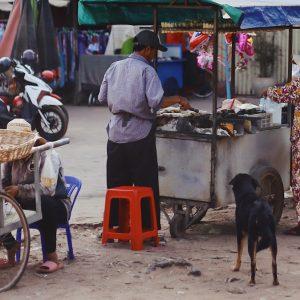 street food stall in krong siem reap