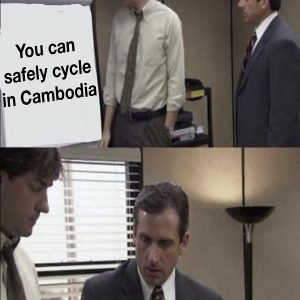 is it safe to cycle in cambodia