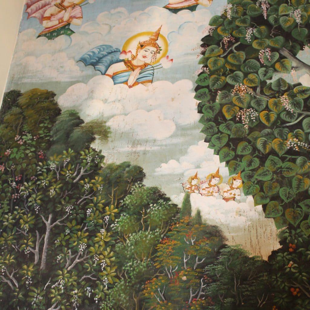 Sacred Images Mural Wat Damnak