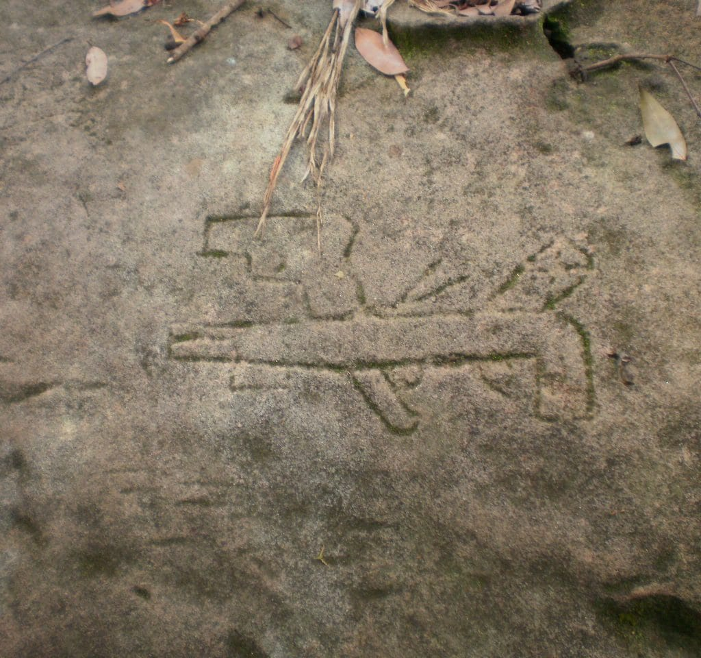 Rifle Rock Art Phnom Kulen