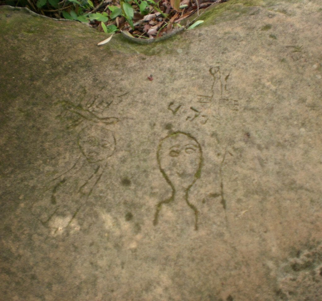 Bombing Rock Art Phnom Kulen