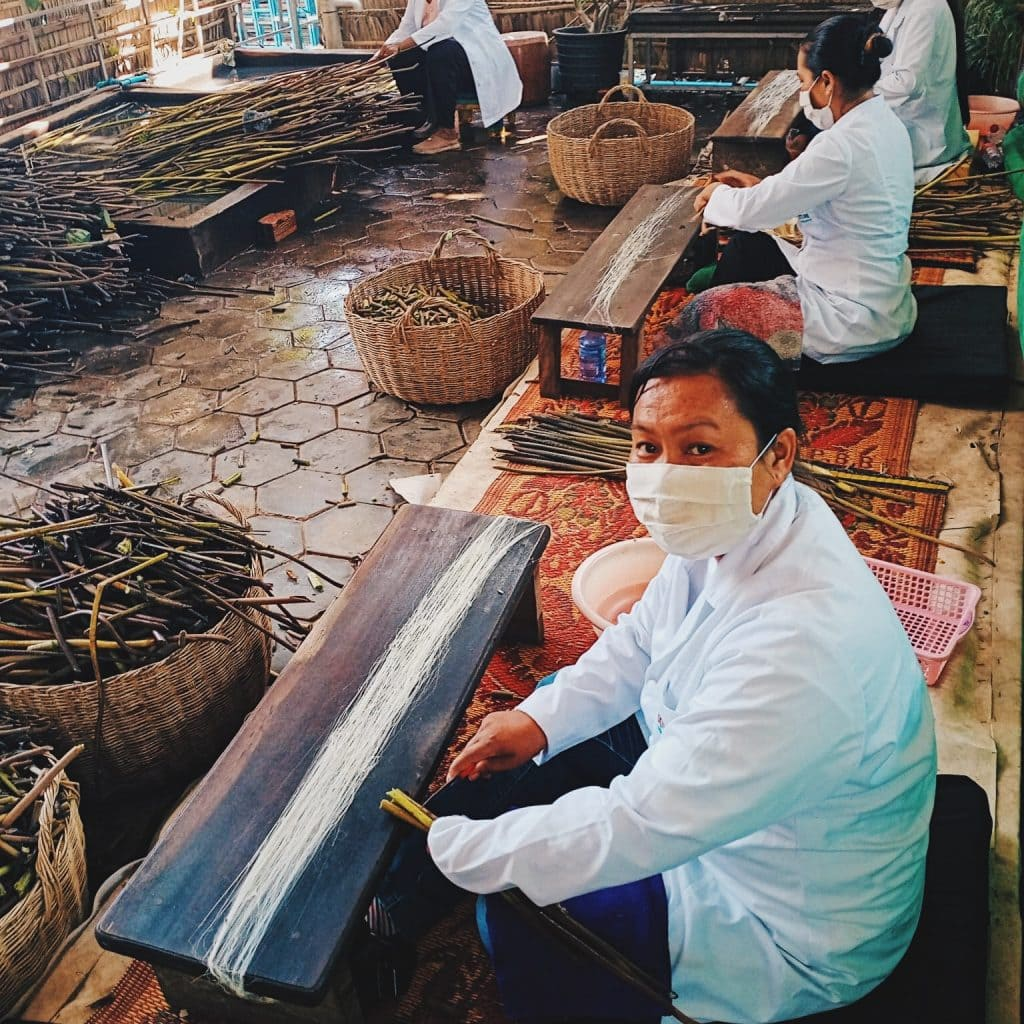 traditional cambodian artisans at work