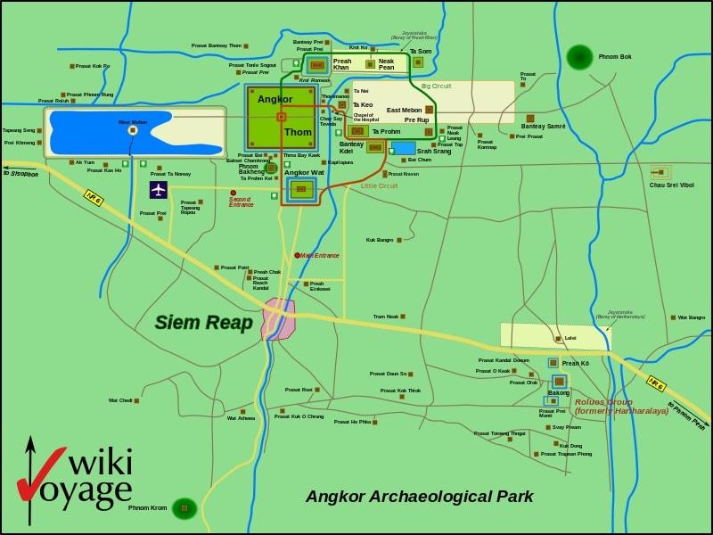 map of angkor thom