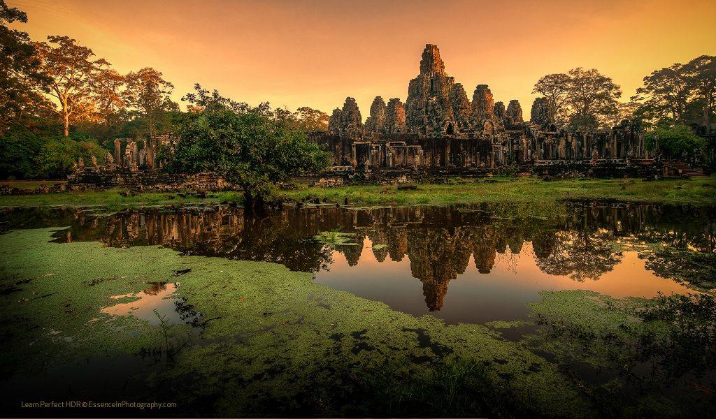 Bayon Temple Reflection at Sunrise
