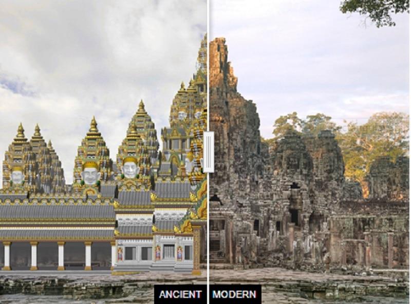 Bayon ancient and present