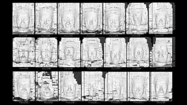3D images of the Bayon faces, University of Tokyo