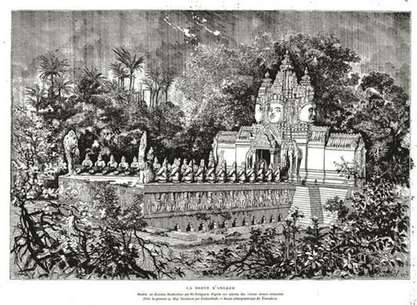 Carte De Poste D'Angkor