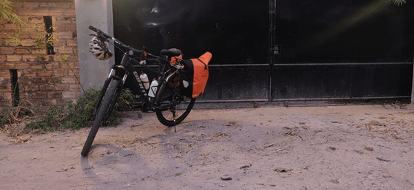 solo cycling from siem reap to north cambodia